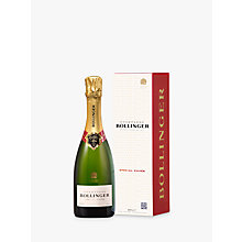 Buy Bollinger Special Cuvée Champagne Gift, 1/2 Bottle Online at johnlewis.com