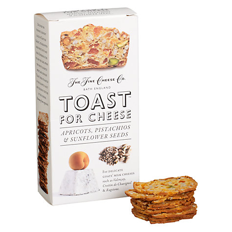 Buy The Fine Cheese Co. Toast for Cheese Crackers Apricots, Pistachios and Sunflower Seeds, 100g Online at johnlewis.com
