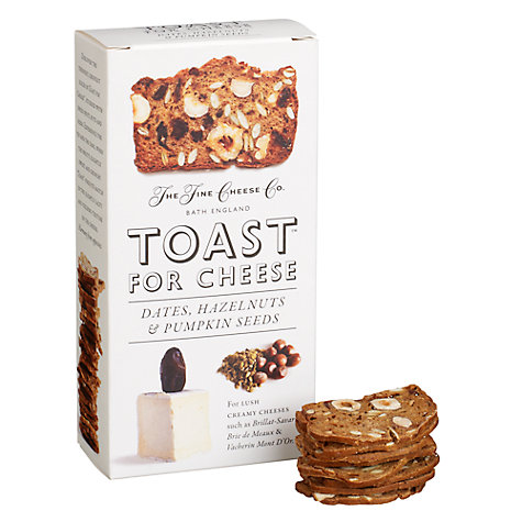 Buy The Fine Cheese Co. Toast for Cheese Crackers Dates, Hazelnuts & Pumpkin Seeds , 100g Online at johnlewis.com