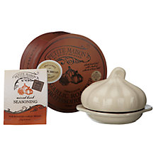 Buy Wildly Delicious Terracotta Garlic Roaster and Garlic Bread Seasoning Set Online at johnlewis.com