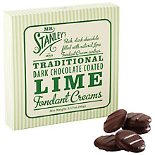 Buy Mr Stanley's Lime Chocolate Creams, 90g Online at johnlewis.com
