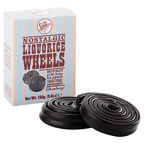 Buy Mr Stanley's Liquorice Wheels in a Box, 200g Online at johnlewis.com