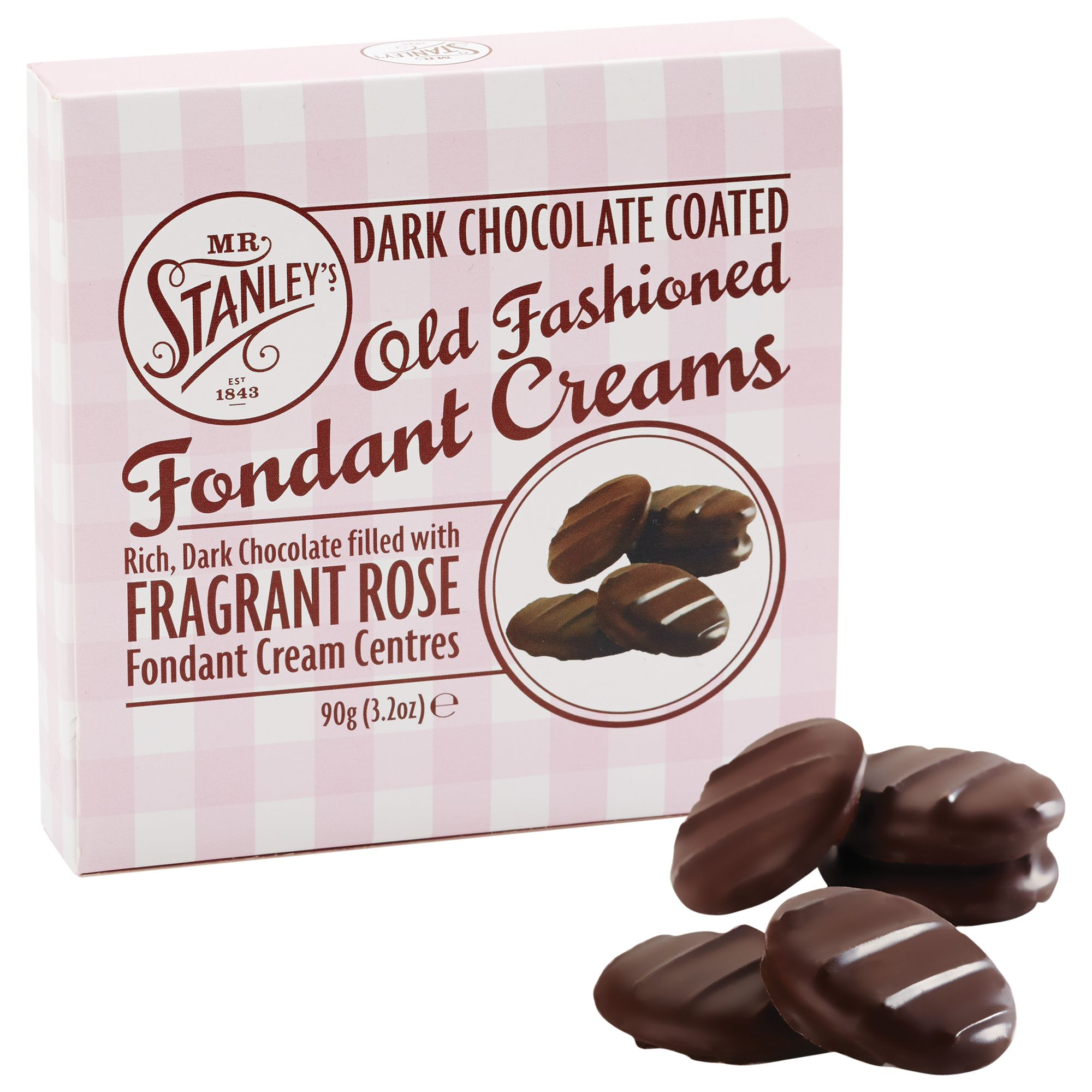 Mr Stanley's Mr Stanley's Rose Chocolate Fondant Creams, 90g