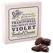 Buy Mr Stanley's Chocolate Violet Fondant Creams, 90g Online at johnlewis.com