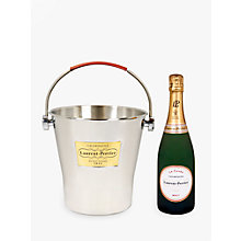 Buy Laurent-Perrier Brut Champagne In Ice Bucket, 75cl Online at johnlewis.com