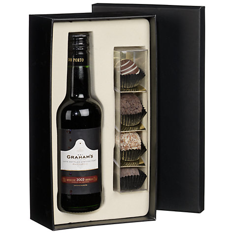 Buy W & J Graham's Port & Montezuma Truffles Gift Set, 20cl Online at johnlewis.com