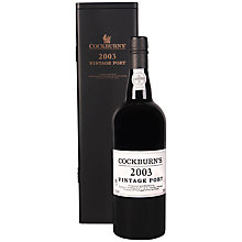 Buy Cockburns Vintage 2003 Port In Box, 75cl Online at johnlewis.com
