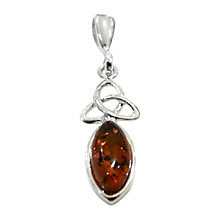 Buy Goldmajor Silver Amber Celtic Style Pendant Online at johnlewis.com