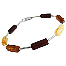 Buy Goldmajor Multicoloured Amber Cube Bead Bracelet Online at johnlewis.com