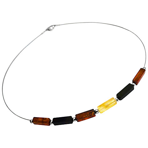 Buy Goldmajor Amber Silver Multicolour Cube Bead Collar Necklace Online at johnlewis.com