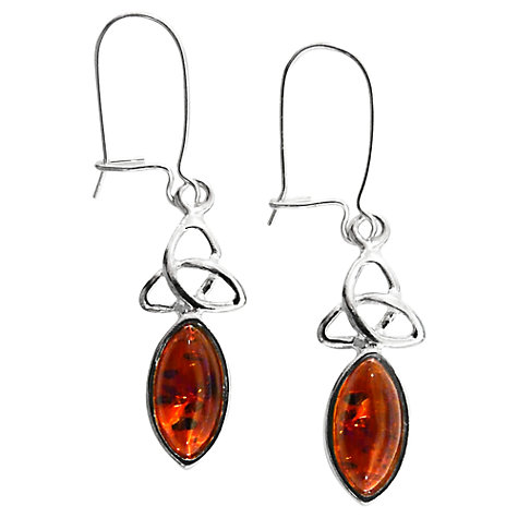 Buy Goldmajor Silver Amber Drop Earrings Online at johnlewis.com