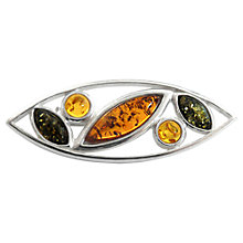Buy Goldmajor Silver Multicoloured Amber Stone Brooch Online at johnlewis.com
