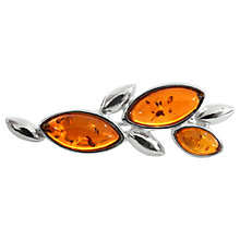 Buy Goldmajor Silver Amber Marquise Stone Bar Brooch Online at johnlewis.com