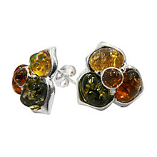Buy Goldmajor Amber Mulitcoloured Flower Stud Earrings Online at johnlewis.com