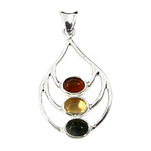 Buy Goldmajor Amber Silver Multicoloured Pendant Online at johnlewis.com