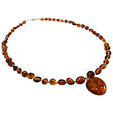 Buy Goldmajor Large Pendant Amber Necklace, Orange Online at johnlewis.com