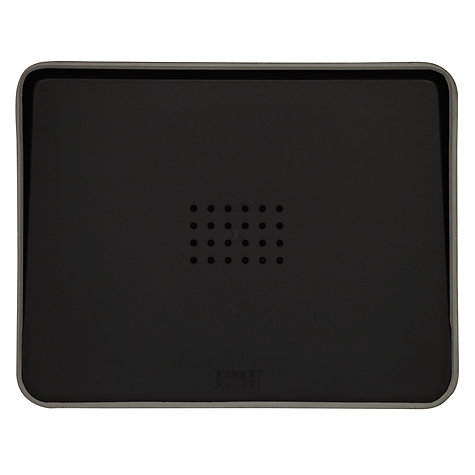 Buy Joseph Joseph Cut & Carve Plus Chopping Board, Small, Black Online at johnlewis.com
