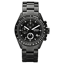 Buy Fossil CH2601 Men's Decker Chronograph Bracelet Watch, Black Online at johnlewis.com