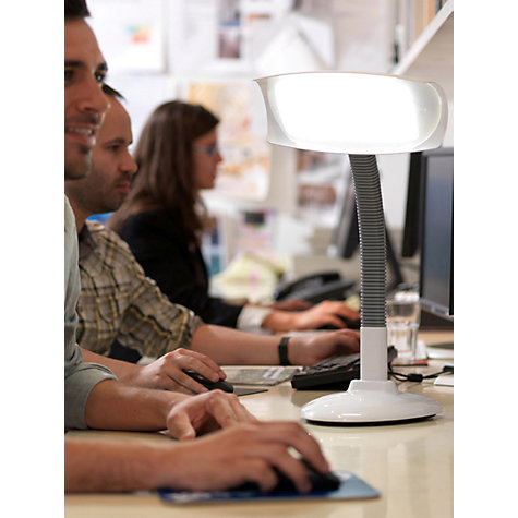Buy Lumie Desklamp Dimmable SAD light, White Online at johnlewis.com