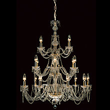 Buy Impex Odette Chandelier, Gold, 18 Light Online at johnlewis.com