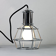 Buy Design House Stockholm Work Table Lamp, Chrome Online at johnlewis.com