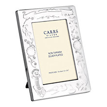 "Buy Carrs Silver Plated Christening Photograph Frame, 3.5 x 5"" Online at johnlewis.com"