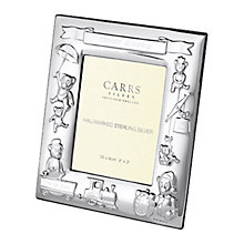 "Buy Carrs Sterling Silver Christening Photograph Frame, 3 x 4"" Online at johnlewis.com"