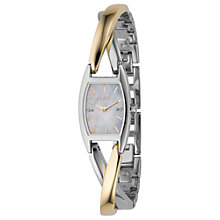 Buy DKNY NY4634 Women's Glitz Two Tone Twist Bracelet Watch Online at johnlewis.com