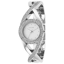 Buy DKNY NY4716 Women's Silver Crystal Gemstone Dial Twist Bracelet Watch Online at johnlewis.com