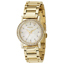 Buy DKNY NY4792 Women's Glitz Round Diamond Watch, Gold Online at johnlewis.com