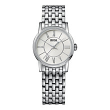 Buy Hugo Boss 1502241 Women's Silver Slim Round Bracelet Watch Online at johnlewis.com