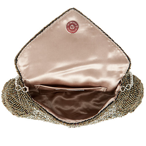 Buy John Lewis Sequin Envelope Bag, Pewter Online at johnlewis.com