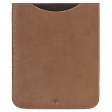 Buy Mulberry Simple iPad Sleeve, Brown Online at johnlewis.com