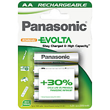 Buy Panasonic Evolta AA Rechargeable Batteries, 4 Pack Online at johnlewis.com