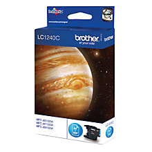 Buy Brother LC1240C Inkjet Cartridge, Cyan Online at johnlewis.com
