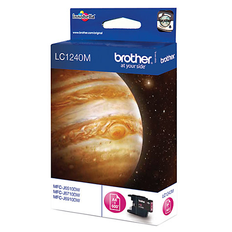 Buy Brother LC1240M Inkjet Cartridge, Magenta Online at johnlewis.com