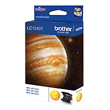 Buy Brother LC1240Y Inkjet Cartridge, Yellow Online at johnlewis.com