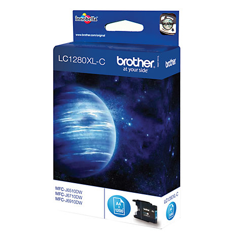 Buy Brother LC1280XLC Inkjet Cartridge, Cyan Online at johnlewis.com