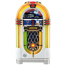 Buy Wurlitzer One More Time Jukebox, CD/iPod Special Edition, White Online at johnlewis.com