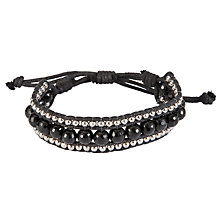 Buy John Lewis Women Beaded Friendship Bracelet, Black Online at johnlewis.com