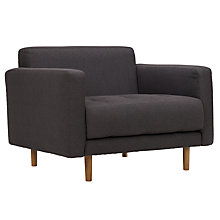 Buy Matthew Hilton for Case Metropolis Armchair, Charcoal Online at johnlewis.com