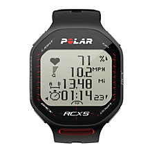 Buy Polar RCX5 GPS Training Watch, Black Online at johnlewis.com