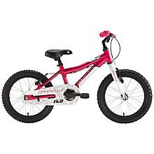"Buy Adventure 160 Girl's 16"" Wheel Bike, Pink Online at johnlewis.com"