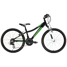 "Buy Adventure 240 Boy's 24"" Wheel Bike, Black/Green Online at johnlewis.com"