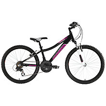 "Buy Adventure 240 Girl's 24"" Wheel Bike, Black/Pink Online at johnlewis.com"