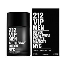 Buy Carolina Herrera 212 VIP Men's Aftershave Lotion, 100ml Online at johnlewis.com