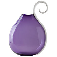 Buy William Yeoward Studio Art Taurus Bottle, Amethyst, Large Online at johnlewis.com