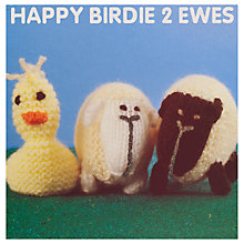 Buy Mint Happy Birdie 2 Ewes Birthday Card Online at johnlewis.com