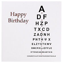Buy Five Dollar Shake Birthday Eye Test Birthday Card Online at johnlewis.com