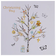 Buy Hammond Gower Christening Tree Card Online at johnlewis.com